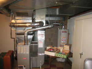 furnace installation in basement